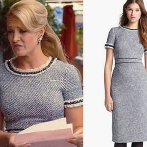 Tory Burch Rosemary Fitted Tweed Dress